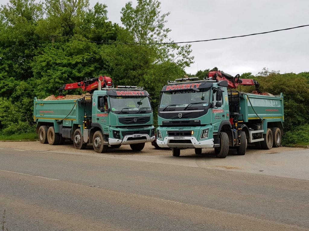 Doherty Grab Hire service loaded in Hertfordshire