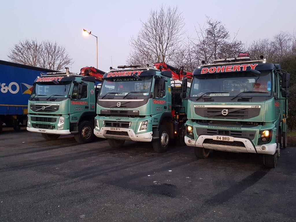Doherty Grab Hire ideal for the removal of concrete, muck, soil or hardcore in Beds, Bucks, Herts & North London